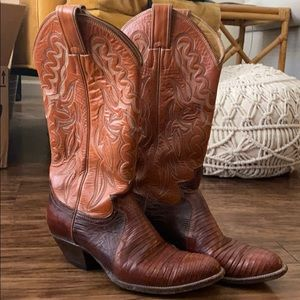 Justin alligator cowgirl boots
